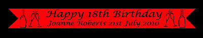 Happy 18Th Birthday Banner 21St 30Th 40Th Personalised