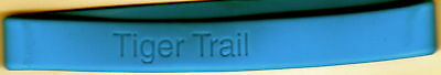 """Tiger Trail"" Blue Silicone Wristbands/Lot of 26/NEW"