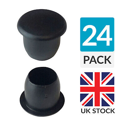 24 x 8mm Black Hole Blanking Decorative Finishing Plug
