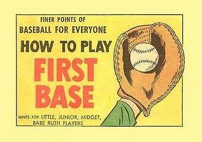 Finer Points Of Baseball How To Play First Base Comic Mini Giveaway Promo Nm