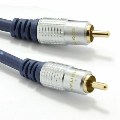 Pure HQ OFC Shielded Subwoofer Cable Gold 1m