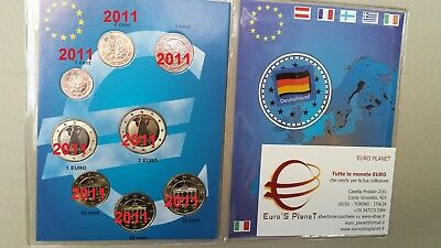 2011 GERMANIA 8 monete 3,88 EURO Allemagne Alemania Deutschland Germany 德国 독일