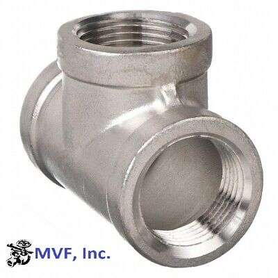 """Tee 150# 304 Stainless Steel 1/8"""" Npt Fitting Brewing Pipe Fitting  736.wh"""
