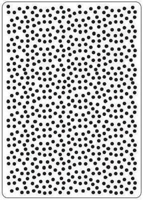 Crafts Too A6 Embossing Folder POLKA DOTS CTFD3023