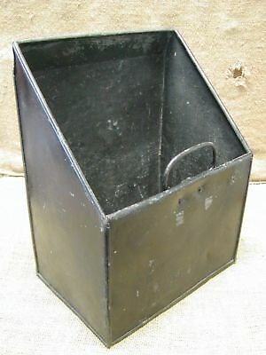 Vintage Metal Scoop Tub Basket Bucket Pail Antique Old