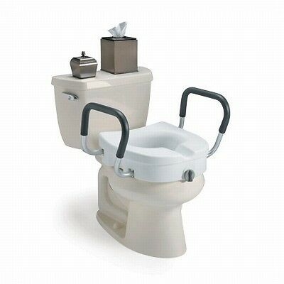 Invacare Clampon Locking Raised Toilet Seat with Arms