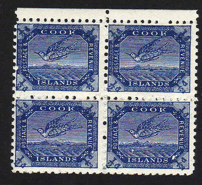 COOK IS.1893 ½d 1st SETTING SG11 IN BLOCK OF FOUR MNH.