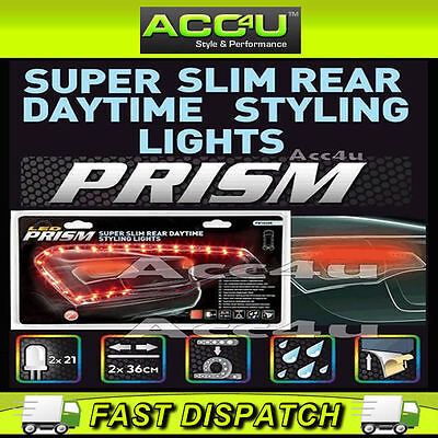 Prism Super Slim Car Rear Red LED Daytime Running Styling Cruise Lights Strips