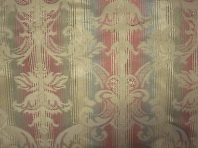 Rust Gold Black Green Striped 56 Wide Upholstery Fabric Sold By