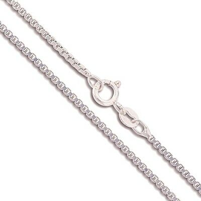 Sterling Silver Box Chain 1.5mm Genuine Solid 925 Italy Classic New Necklace