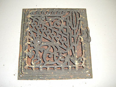 Decorative Heat Grate 10x9.5 Cast Iron Antique