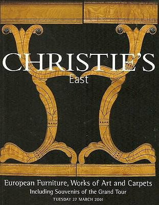 Christie's Sale 8501 European Furniture Artworks Carpets Auction Catalog 2001