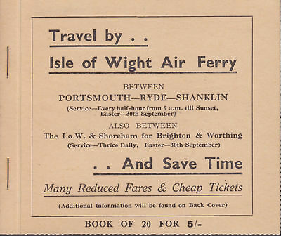Great Britain San 506b, 1934 Air Ferry Intact Booklet
