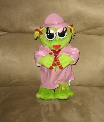 "Musical Animated 14"" Gemmy Ribbit Flasher Frog"