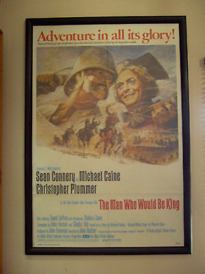 The Man Who Would Be King Original Us 1 Sheet Movie Poster 1975 Caine Connery