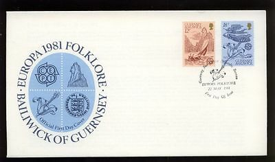 Guernsey 1981 Europa Folklore FDC