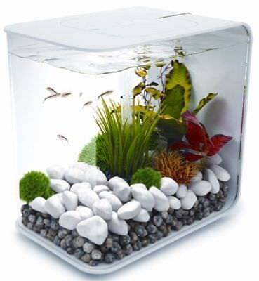 Biorb Flow 15L White Coldwater Aquarium Fish Tank With Led Light Oase