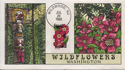 #2692 Fdc Hand Painted By Collins Bl I36