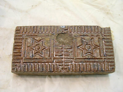 Brick Glazed Red Star Of David Antique Style