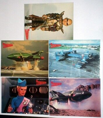 Set Of 5 Gerry Andersons Thunderbirds Postcards