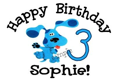 Blues Clues Personalized Birthday T-shirt