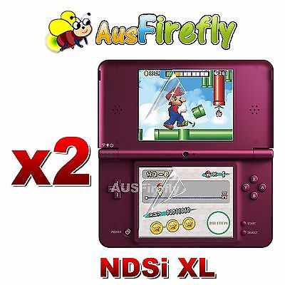 2x New LCD Clear Screen Protector for Nintendo NDSi DSi LL XL NDSiLL NDSiXL