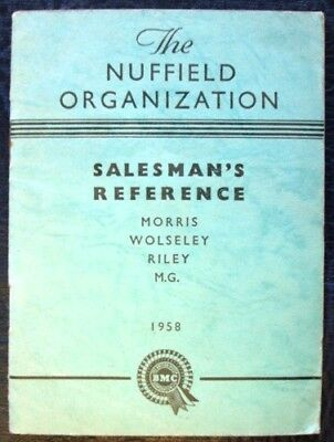 Nuffield Morris Mg Riley Salesmans Reference Guide Book