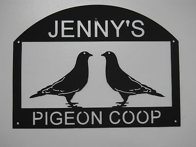 Pigeon Coop Loft Metal Sign  Any Name No Charge  Clock