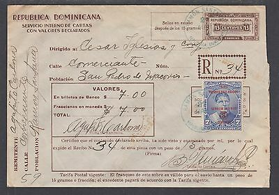 Dominican Republic H&G C1 used w/ Insured Letter Stamp