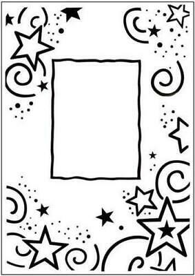Crafts Too A6 Embossing Folder STARS FRAME -  CTFD3031