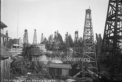 """Photo 1894 Los Angeles California """"View of Oil Fields"""""""