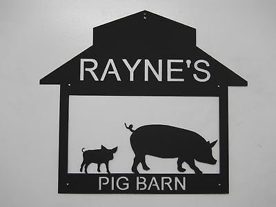 Pig Barn Pen Metal Sign Any Name No Charge Swine