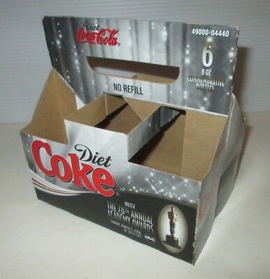 Coca Cola Diet Coke Soda 2006 Oscars Academy Awards Box Empty Cardboard Carrier