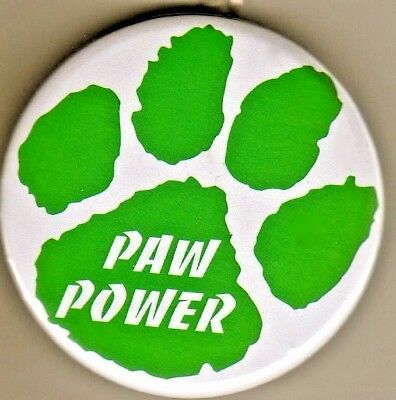"""PAW POWER"" Green Paw Button Keyrings/Wholesale Lot of  50/All New!"
