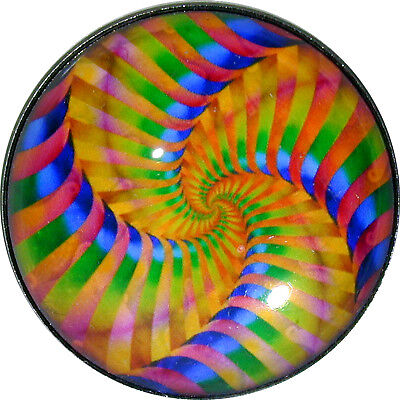 Crystal Dome Button Mystical Spiral #24 Lg Sz 1 & 3/8""