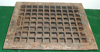 Heat Grill Grate Register Cast Iron Vintage Antique #4118