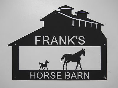 Horse Barn Metal Sign Any Name No Charge Farm