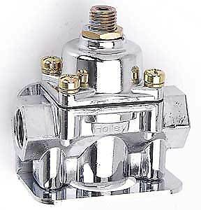 Holley 12-803 ; Max Pressure Regulator Chrome Finish For use with gasoline