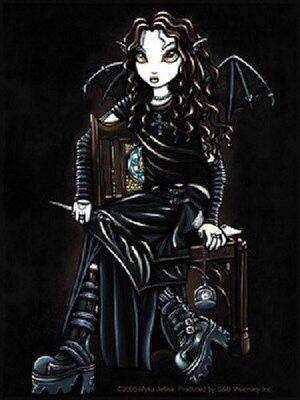 Myka Jelina Gothic Fairy Sticker Decal Killing Time BLK