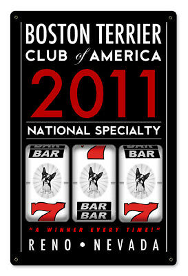 Boston Terriers Slot Machine National Event Sign 2011