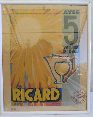 Ricard Chromolithographie Numerotee Serie Limitee 52/42