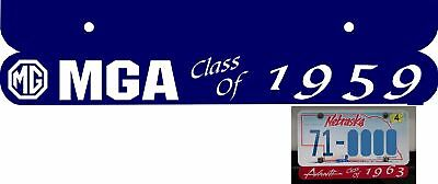 """LaSalle License Plate Topper /""""Class Of/"""" 3 color choices"""