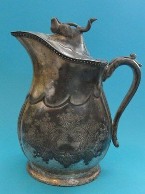"""Victorian Rogers Smith & Co. Plated Water Pitcher ~9"""" H"""