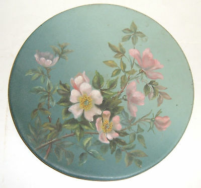 Pink Rose Chic Tin/Tole Shabby Oil Painting