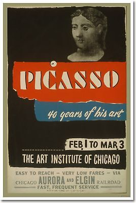 Picasso - Art Institute of Chicago - Vintage Art POSTER