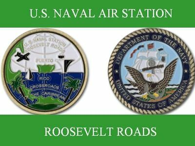 ROOSEVELT ROADS Puerto Rico Naval Air Station Navy Challenge Coin