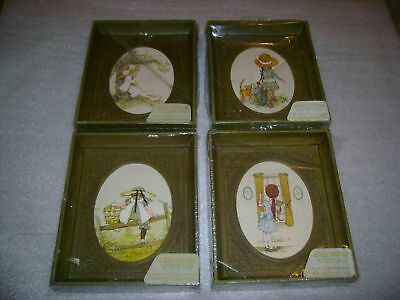 Lot 4 Matching HOLLY HOBBIE Framed Pictures Set MIP