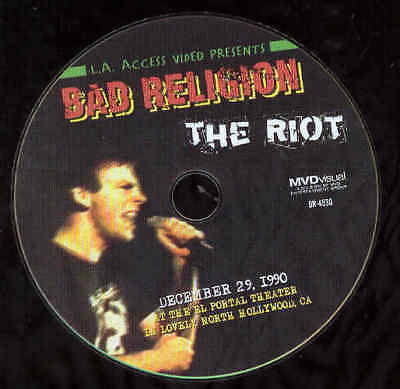 Bad Religion Music DVD The Riot El Portal Hollywood