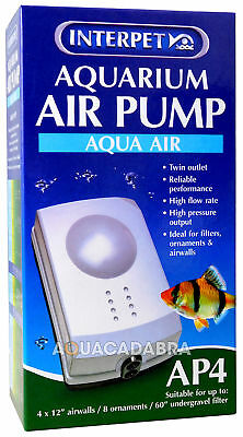 Interpet Ap4 Aquarium Fish Tank Air Pump Tropical Coldwater • EUR 38,44