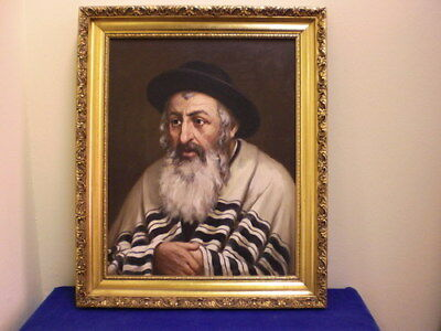 JUDAIKA, Bild eines Rabbiners- Painting of a Rabbi